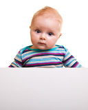 Isolated infant girl Stock Images