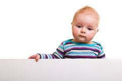 Isolated infant girl Royalty Free Stock Photography