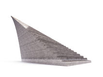 Isolated infinity brown concrete staircase on white Stock Images
