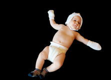 Isolated innocent baby. On a black background Royalty Free Stock Photos
