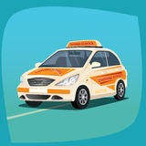 Isolated instructional vehicle. Isolated, detailed images of three-dimensional instructional vehicle, car with distinctive signs, the main device of driver`s Stock Photo