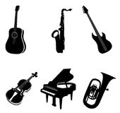 Isolated Instruments Royalty Free Stock Photography