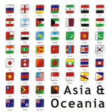 Isolated international flags. Vector illustration of different isolated flags Royalty Free Stock Photography