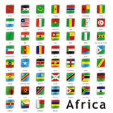 Isolated international flags Royalty Free Stock Photo