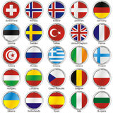 Isolated international flags Stock Image