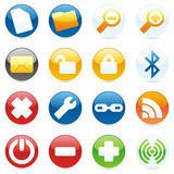 Isolated internet icons. Vector illustration of different isolated internet icons Royalty Free Stock Photo