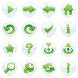 Isolated internet icons Royalty Free Stock Photo