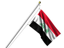 Isolated Iraqi Flag Royalty Free Stock Photo