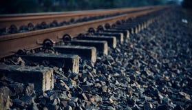 Isolated iron made railway tracks unique photo. Isolated iron made railway tracks with stones unique object photo stock image