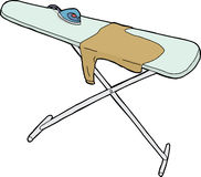 Isolated Ironing Board and Shirt Stock Image