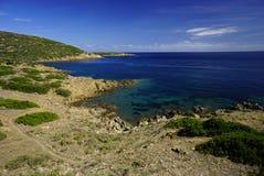 Isolated island Asinara in Sardinia Italy stock images