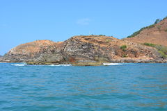 Isolated Island. A beautiful island near Goa called as Monkey Island Royalty Free Stock Photo
