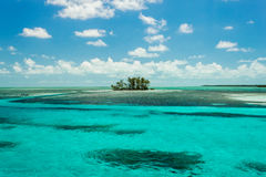 Isolated island in the Caribbean Royalty Free Stock Photos