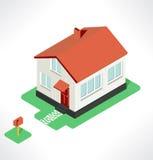 Isolated isometric house, vector illustration Stock Photos