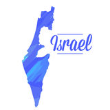 Isolated Israel map Stock Photography