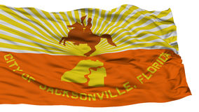 Isolated Jacksonville City Flag, United States of America Royalty Free Stock Images