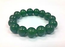Isolated Jade Necklace Royalty Free Stock Photos