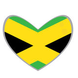 Isolated Jamaican flag Royalty Free Stock Image