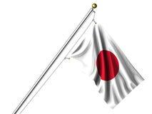 Isolated Japanese Flag Royalty Free Stock Image