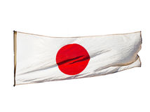 Isolated Japanese flag in  wind Stock Image