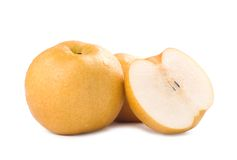 Isolated Japanese pear Stock Images