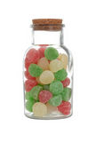Isolated jar christmas gum drop candy Stock Photography