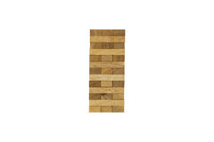Isolated Jenga wood block game Royalty Free Stock Photography