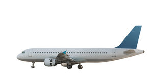 Isolated Jet Airliner 1 Stock Photo