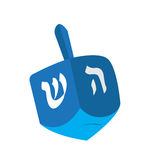Isolated jewish dreidel. Isolated traditional jewish dreidel on a white backgrond,, Vector illustration Stock Images