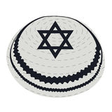 Isolated jewish kippa. On a white background, Vector illustration Stock Photography