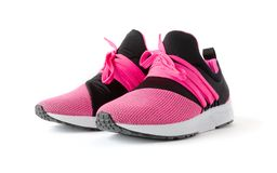 Isolated jogging shoes. Isolated unisex modern style jogging shoes Royalty Free Stock Photos