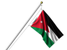 Isolated Jordanian Flag Royalty Free Stock Image