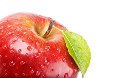 Isolated juicy red apple Stock Image