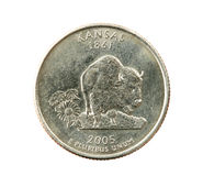 Isolated Kansas quarter Royalty Free Stock Image