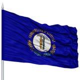 Isolated Kentucky Flag on Flagpole, USA state Royalty Free Stock Photos