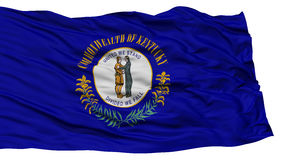 Isolated Kentucky Flag, USA state Stock Image