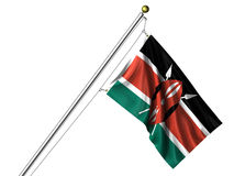 Isolated Kenyan Flag Royalty Free Stock Photos