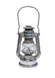 Isolated kerosene lamp Stock Photos