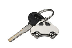 Isolated Key on White with Clipping Path Stock Images