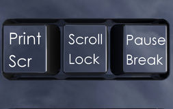 Isolated keyboard buttons Stock Photos