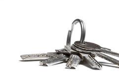 Isolated Keys. Photo of keys isolated on white background royalty free stock photography