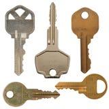 isolated keys metal various Στοκ φωτογραφίες με δικαίωμα ελεύθερης χρήσης