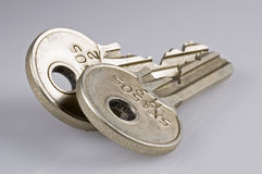 Isolated keys various. Isolated keys Royalty Free Stock Images