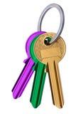 Isolated Keys on White Stock Images