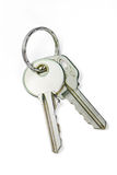 Isolated Keys on White with Clipping Path Royalty Free Stock Photography