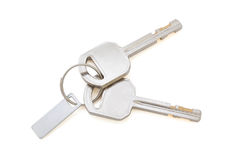 Isolated Keys on White with Clipping Path Royalty Free Stock Photo