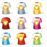 Isolated kid t-shirt set Royalty Free Stock Photo