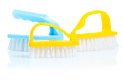 Isolated kitchen brushes Royalty Free Stock Image