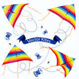 Isolated kite. Isolated color kite. Vector illustration Stock Photos
