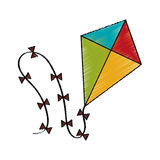 Isolated kite toy design Royalty Free Stock Images